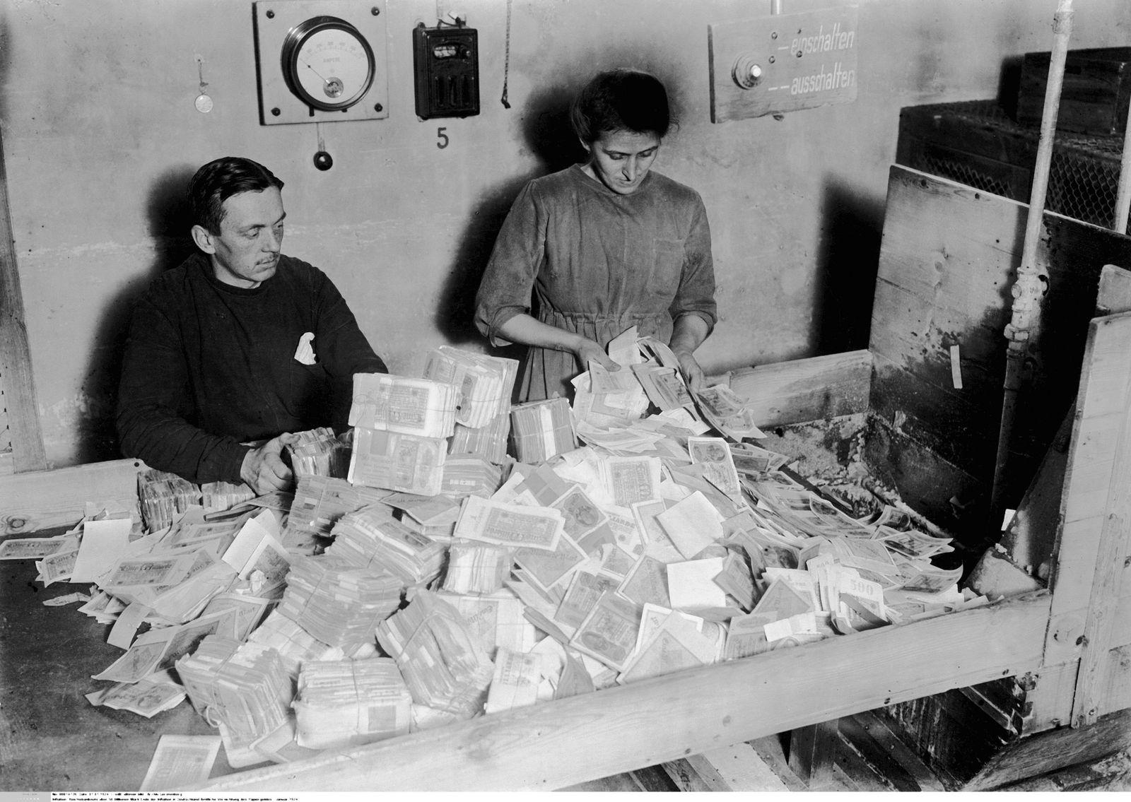 Inflation -Reichsbanknote über 50 Billionen Mark