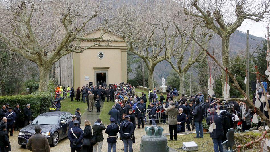 Sant'Anna di Stazzema beim Gauck-Besuch im März: Gerechtigkeitsempfinden verletzt