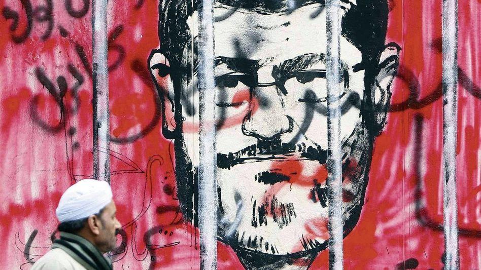 Anti-Mursi-Graffito vor dem Präsidentenpalast