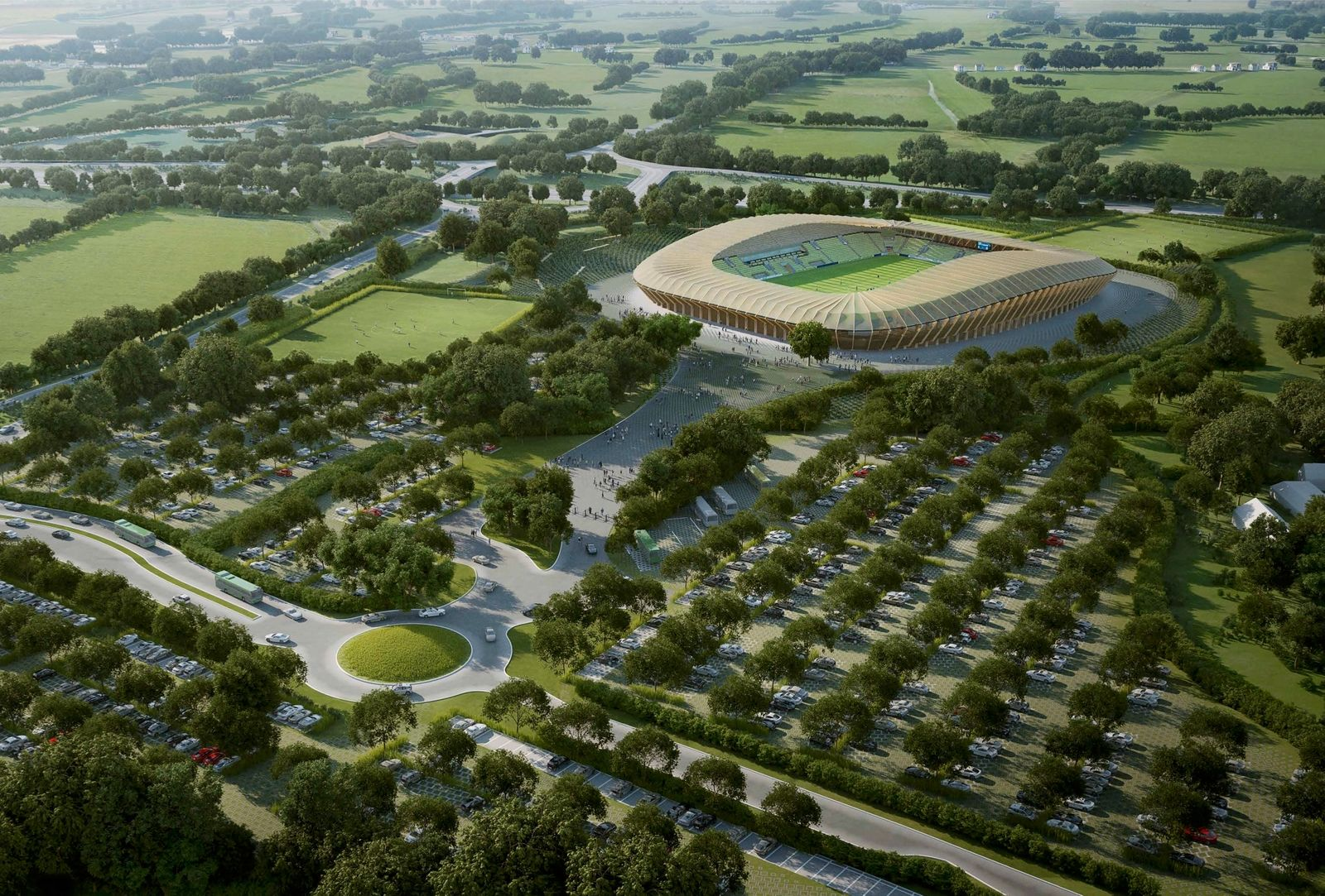 Forest Green Rovers / Stadion / Entwurf / Eco Park