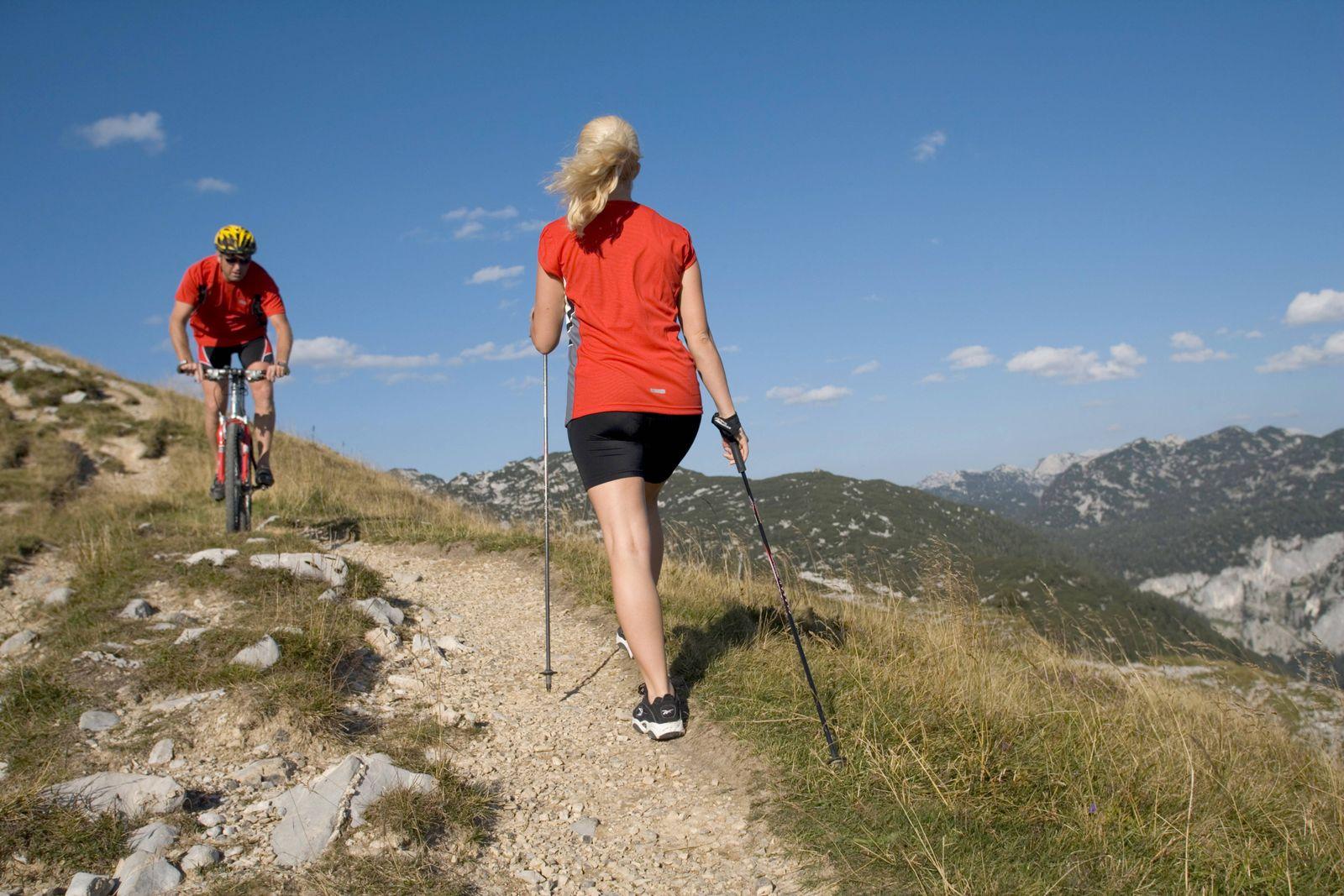 EINMALIGE VERWENDUNG Wanderer/ Mountainbike