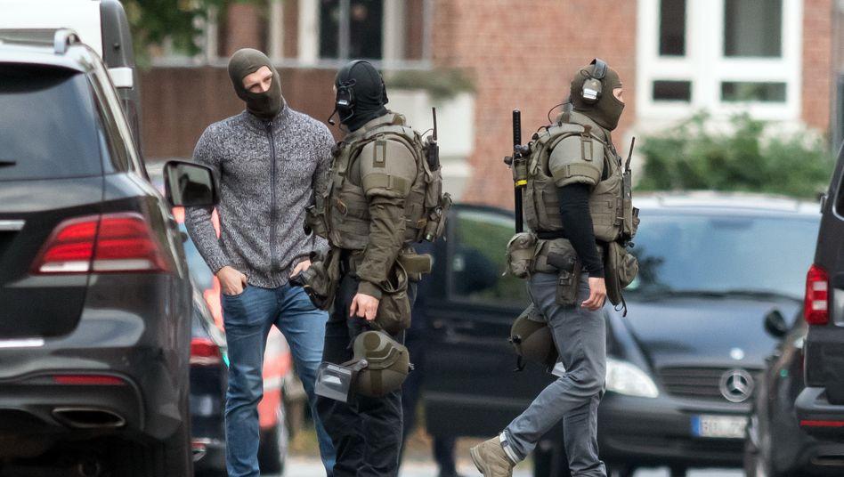 Einsatzkräfte in Münster