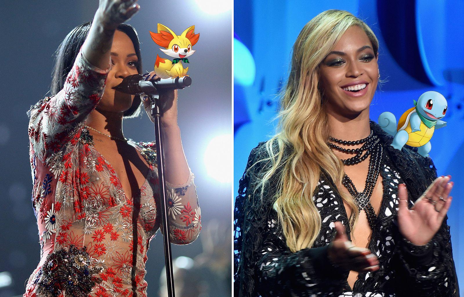 EINMALIGE VERWENDUNG Rihanna/ Beyonce KOMBO/ GRAFIK