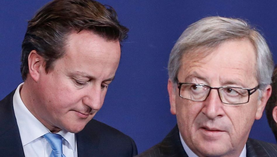 British Prime Minister David Cameron and European Commission President Jean-Claude Juncker