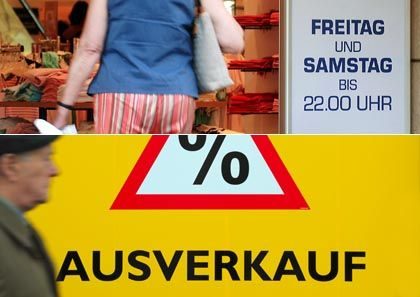 Drops due: The German consumer price index has fallen more than expected