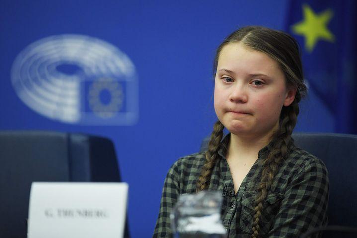 """Greta Thunberg im Europaparlament: """"Ihr müsst für uns wählen"""""""