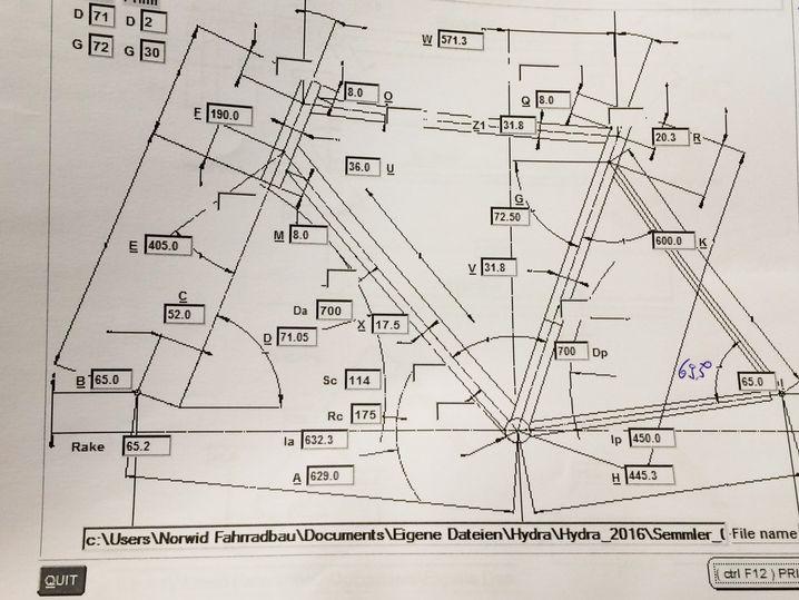 Der Konstruktionsplan für ein Norwid-Rad
