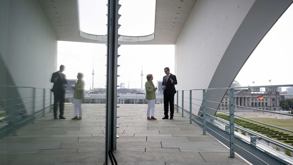 Kanzlerin Merkel und Serbiens Premier Vucic