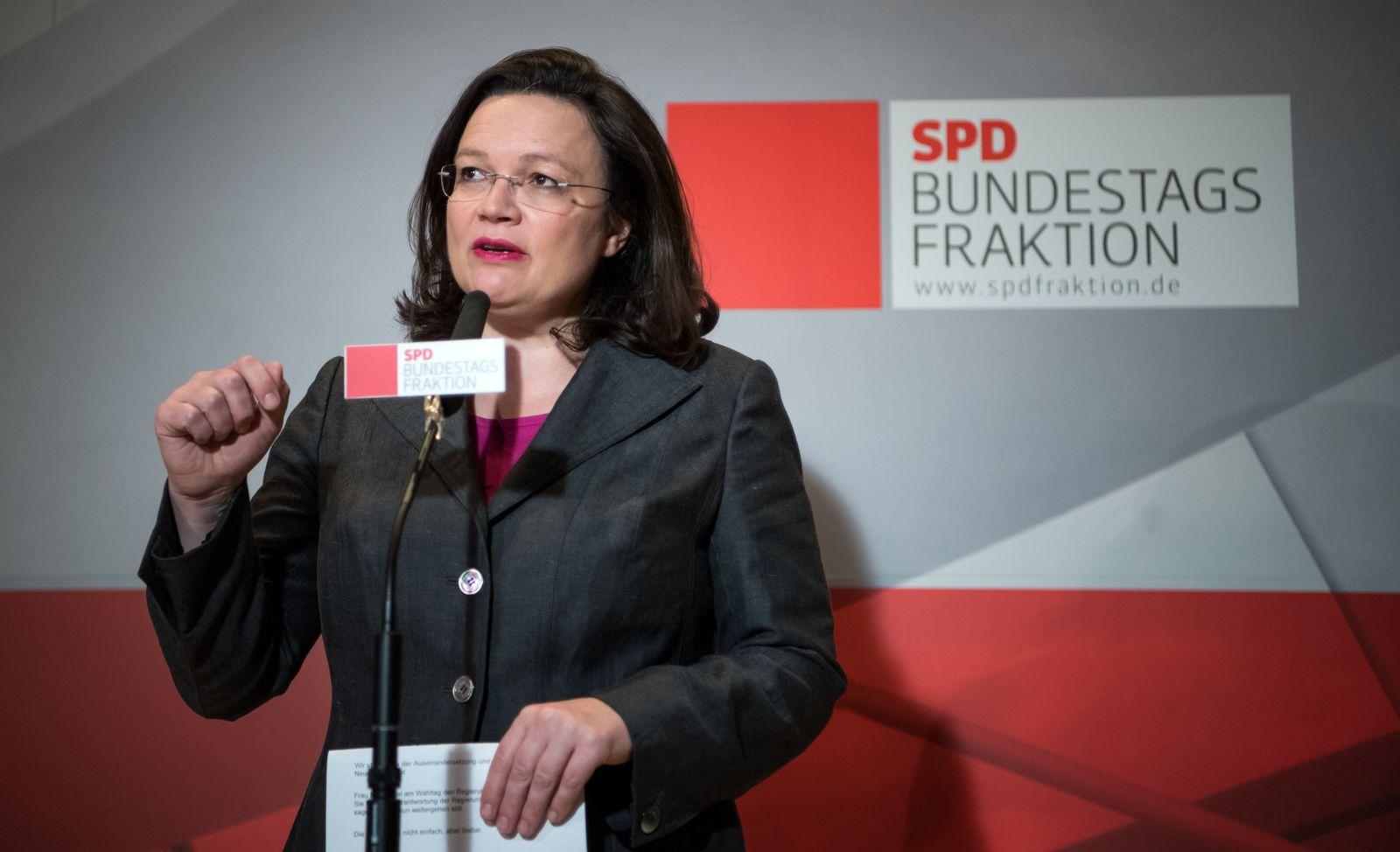 Nach dem Ende der Sondierungsgespräche - SPD