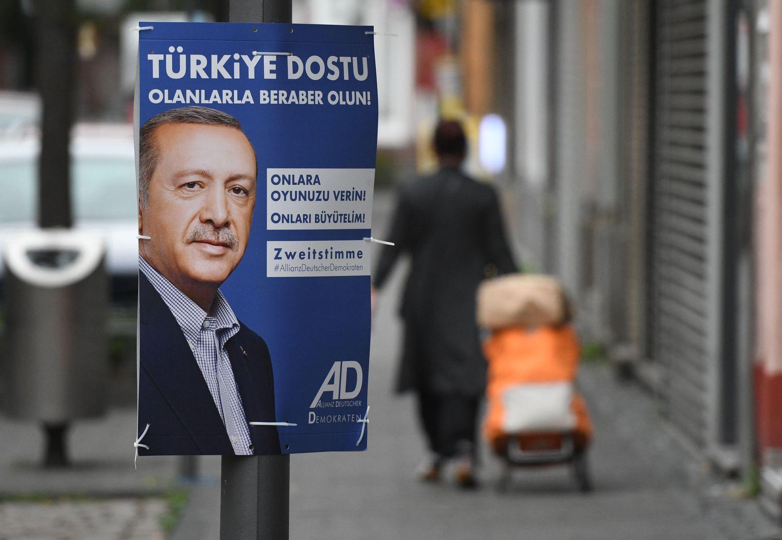 Erdogan auf Wahlplakat für die Bundestagswahl