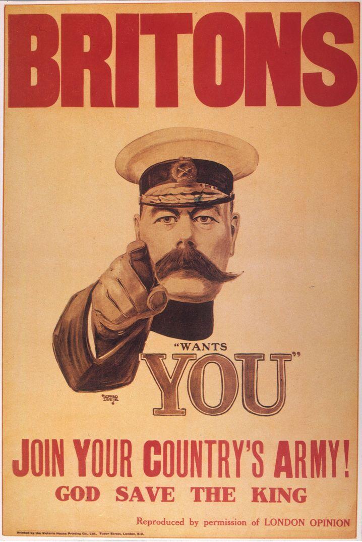 Kriegsminister Kitchener: Freiwillige gesucht