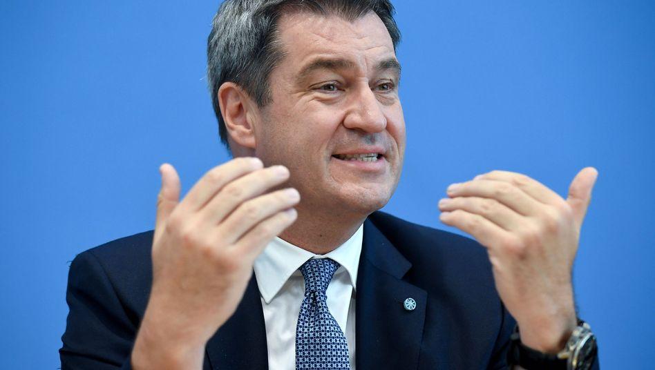 """Markus Söder (CSU) möchte das """"moderneste Klimaschutzgesetz in Deutschland auf den Weg bringen"""""""