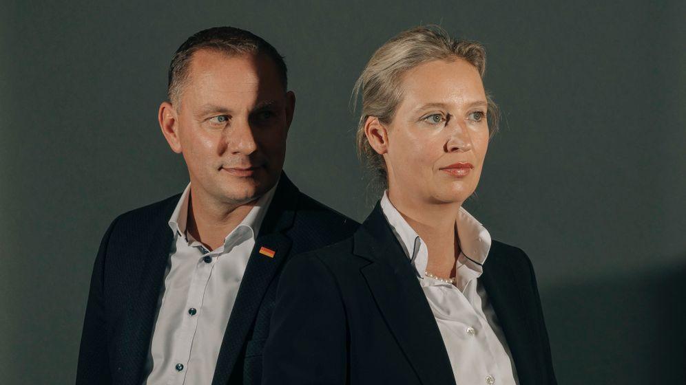 AfD-Spitzenkandidaten Chrupalla, Weidel: Außen nett, innen radikal