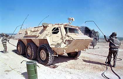 Manöver im Wüstensand: ABC-Abwehrkräfte der Bundeswehr in Kuweit
