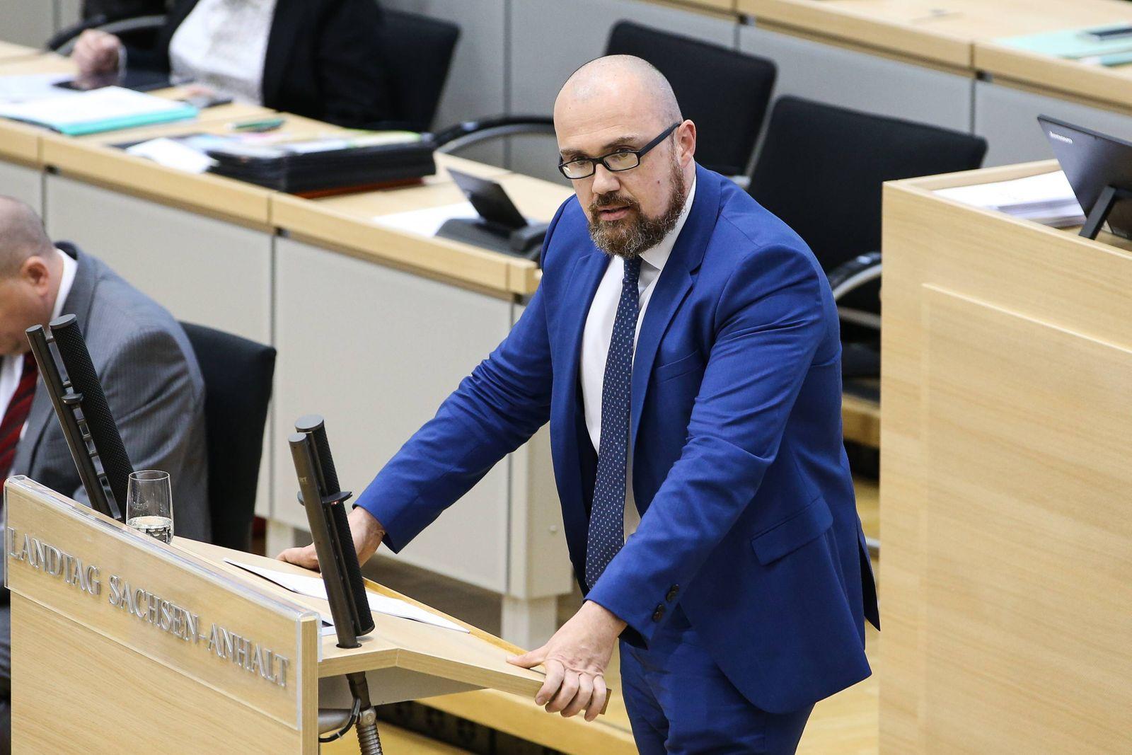Dr Thomas Tillschneider AfD Sachsen Anhalt Landtagssitzung im Landtag von Sachsen Anhalt mit de
