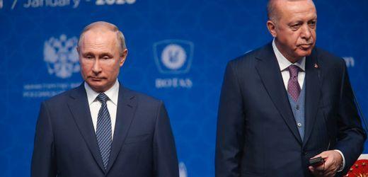 Idlib-Krise: Erdogan fordert im Telefonat mit Putin Rückzug syrischer Truppen