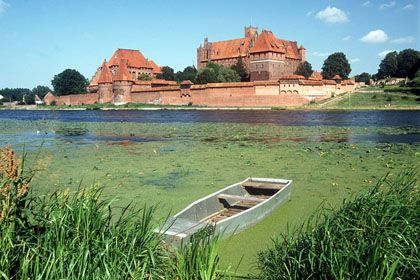 The remains were found not far from the famous Malbork Castle.