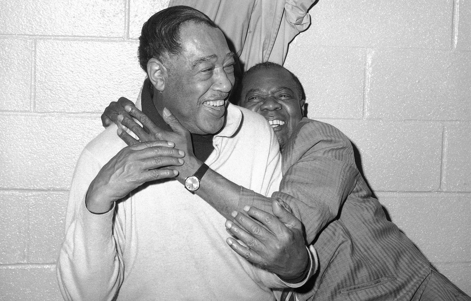Duke Ellington and Louis Armstrong