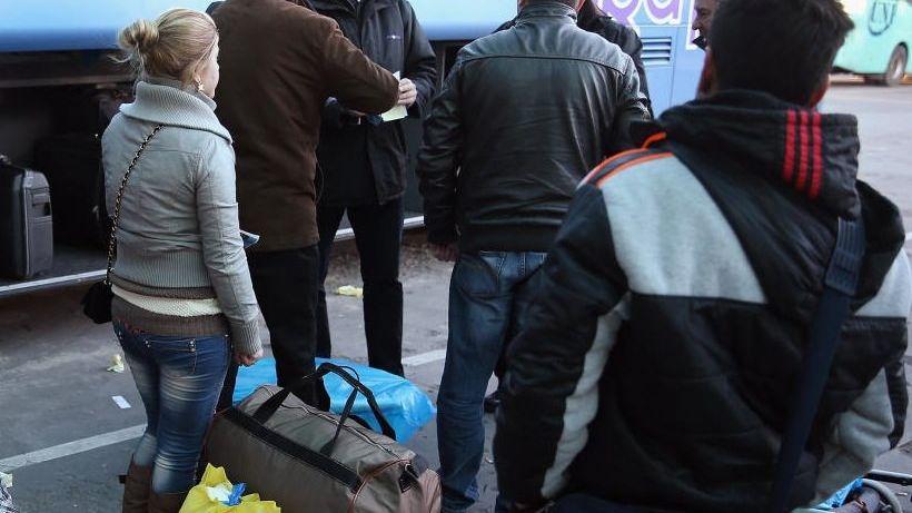 Bulgaren in Sofia auf dem Weg nach Deutschland