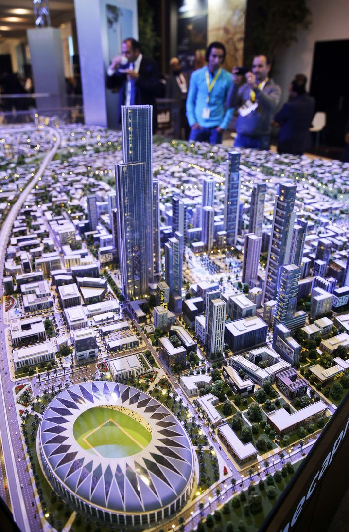 A model of the planned new capital for Egypt, as presented at an investment conference in March in Sharm el-Sheikh.
