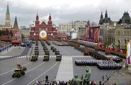 A military parade on Moscow's Red Square