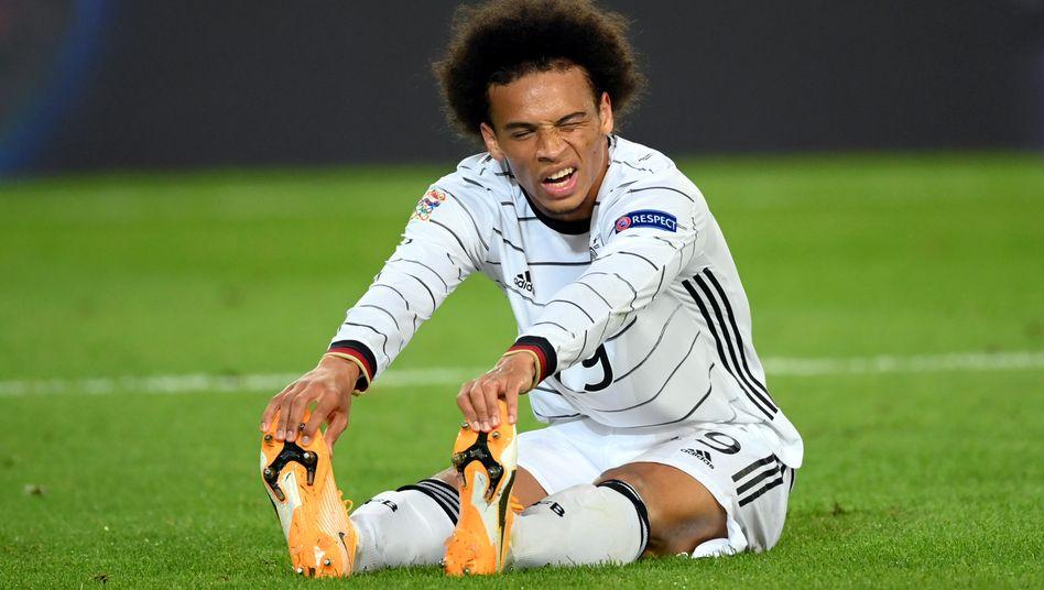 Nationalspieler Leroy Sané wird wenig später ausgewechselt