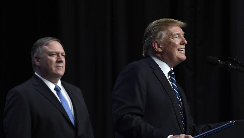 US-Außenminister Mike Pompeo und Präsident Donald Trump