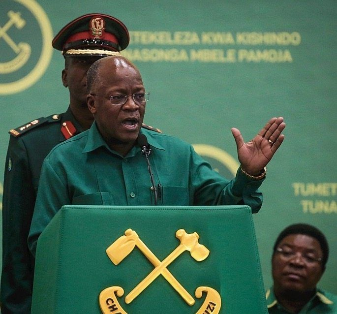 "President John Magufuli: ""It's a dictator's playbook."""