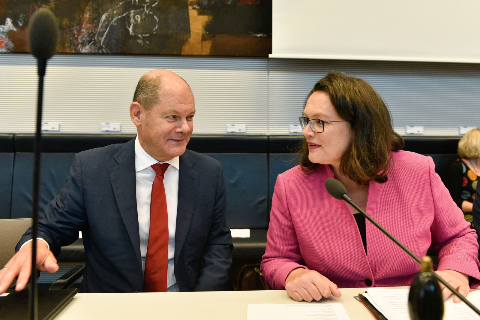 Andrea Nahles Olaf Scholz