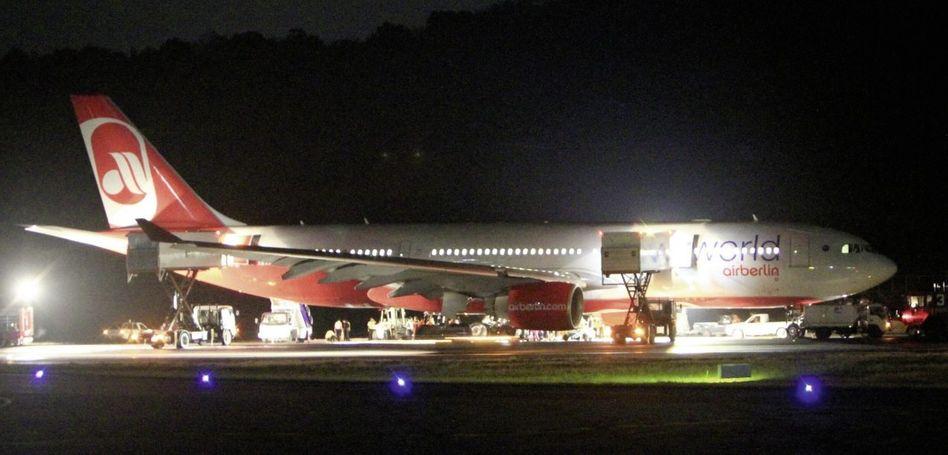Notgelandeter Airbus A330 in Phuket