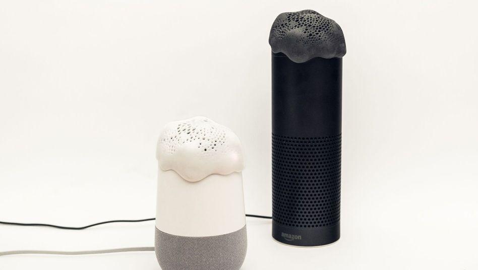 Alias auf einem Google Home (links) und einem Amazon Echo