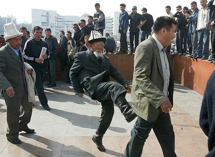 Unruhen in Bischkek: Polizei in erhöhter Alarmbereitschaft