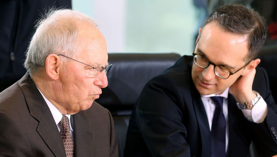 Finanzminister Wolfgang Schäuble, Justizminister Heiko Maas