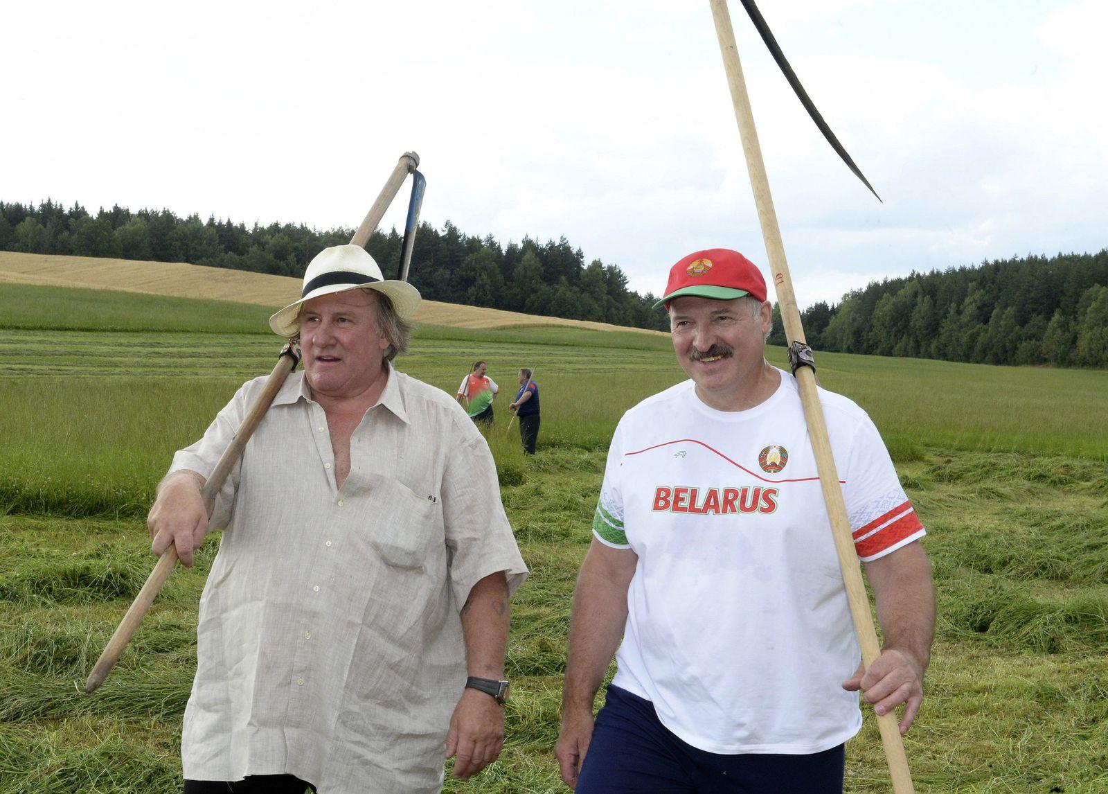 Alexander Lukashenko/ Gerard Depardieu