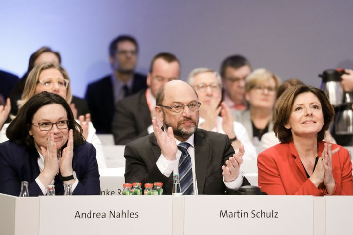 SPD-Politiker Nahles, Schulz und Dreyer