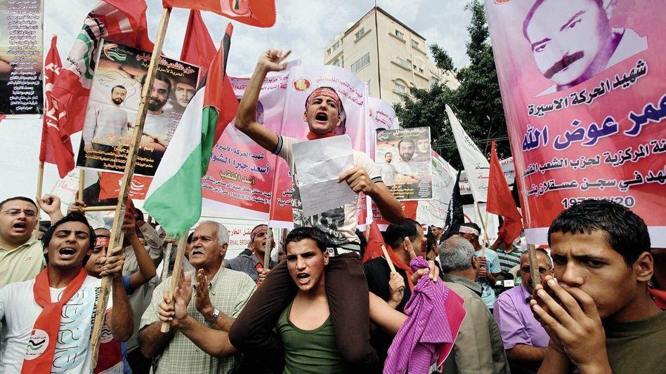 Palästinenser in Gaza-Stadt feiern die bevorstehende Freilassung der Gefangenen