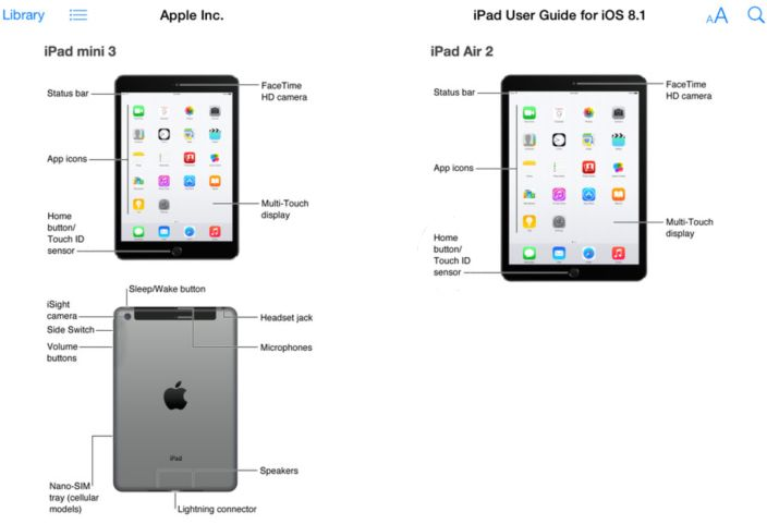 SCREENSHOT Apple iPad Air 2 - Vorab ijm Apple Store aufgetaucht