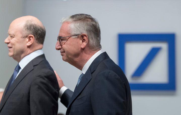 Scheidender Bankchef Cryan (l.), Aufsichtsratsboss Achleitner