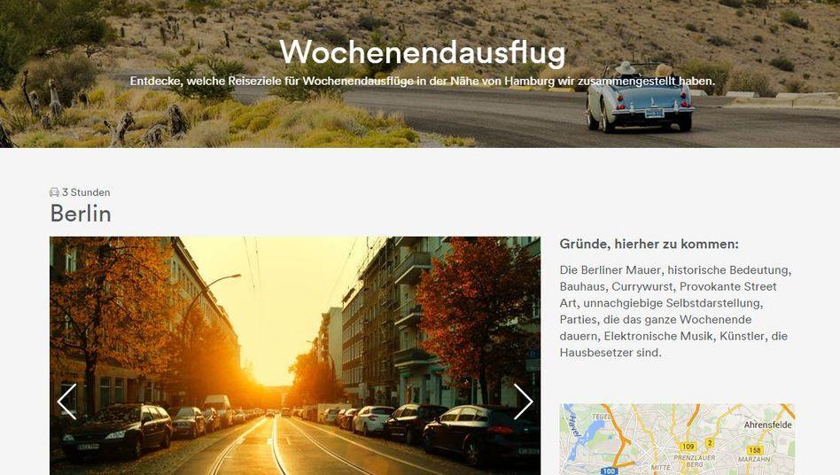 Berlin-Seite bei Airbnb