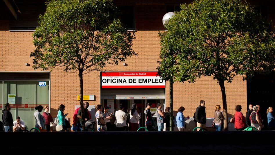 Arbeitsamt in Madrid