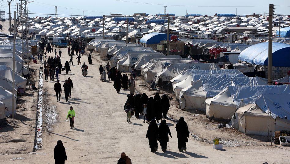 Lager in Syrien (Archivbild): 120 Deutsche in kurdischer Haft