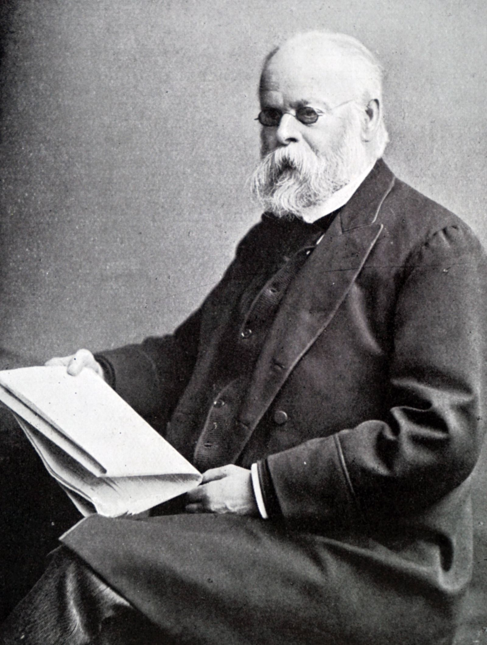 Photographic portrait of Samuel Plimsoll 1824 1898 an English politician and social reformer Date