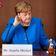 Angela Merkel und der weiß-blaue Elefant