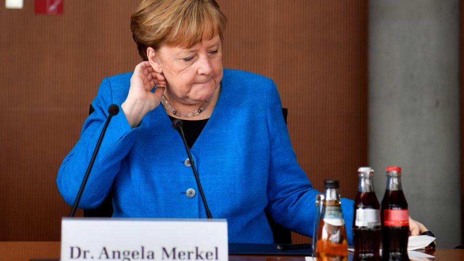 Angela Merkel bei ihrer Aussage vor dem Wirecard-Untersuchungsausschuss