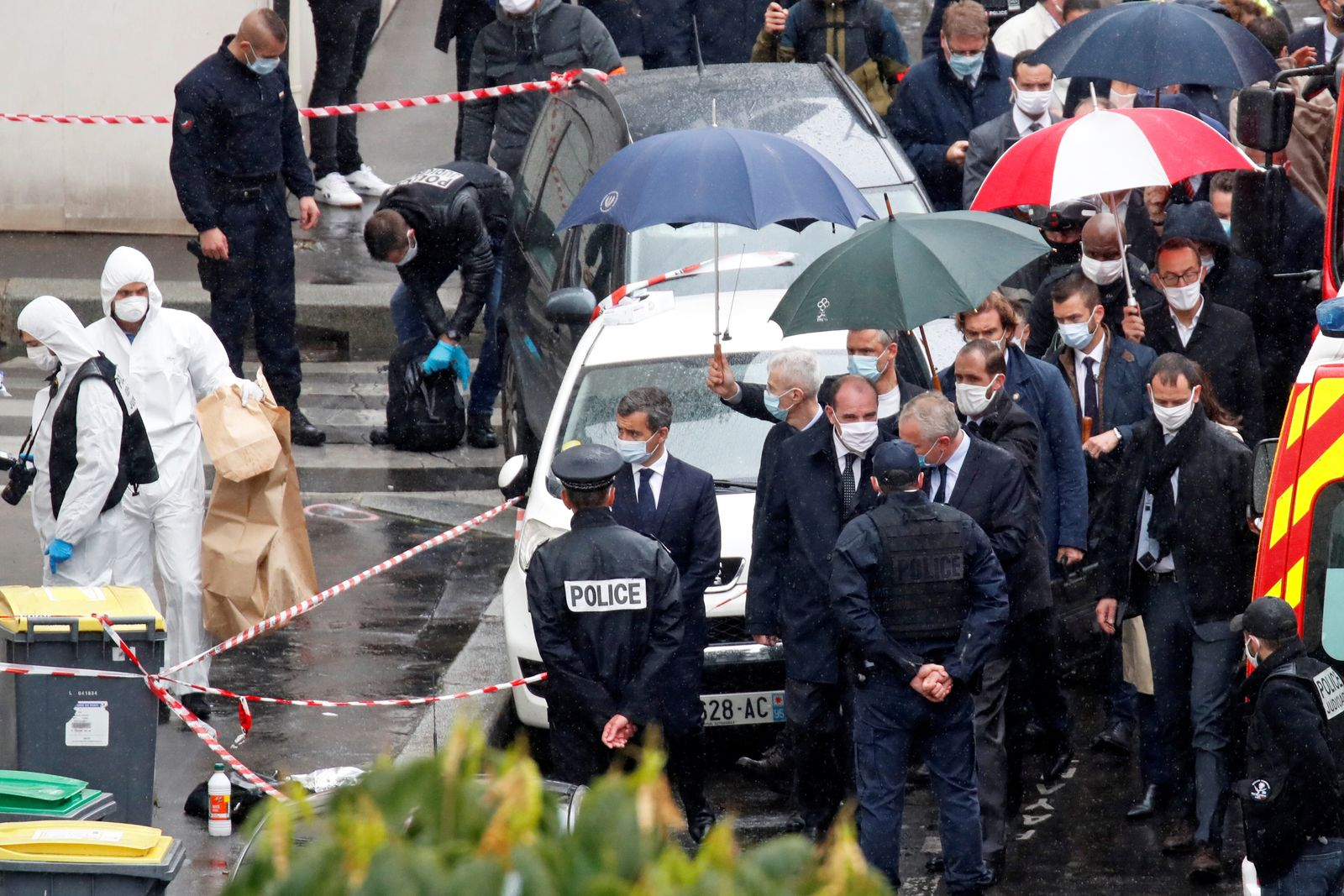 Stabbing attack near the former offices of Charlie Hebdo, in Paris