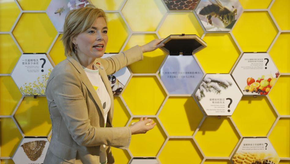 Bundeslandwirtschaftsministerin Julia Klöckner (CDU) im Mai 2019 bei einer Ausstellung in China