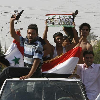 Ziel von Anschlägen: Feiernde Iraker in Bagdad