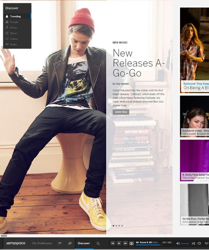 MySpace: 2013 startet das Musiknetzwerk komplett überarbeitet neu