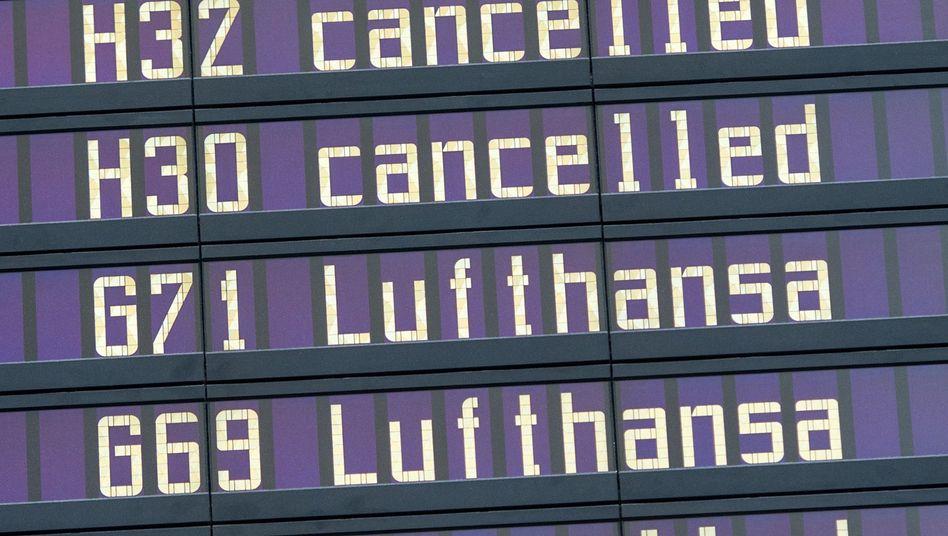 Annullierte Flüge der Lufthansa am Flughafen München (Archivfoto)