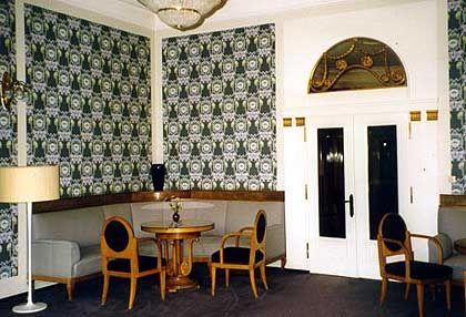 Damenzimmer im Sanatorium Dr. Barner: Im Sinne eines Gesamtkunstwerks wurde jeder Gegenstand von dem Künstler Albin Müller